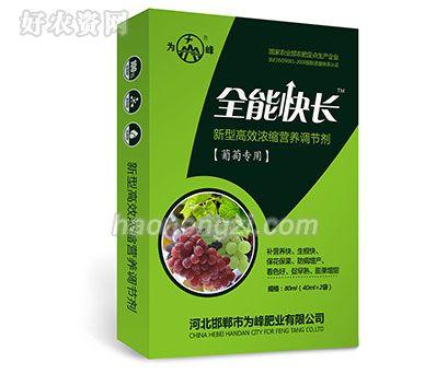 新型高效浓缩营养调节剂-全能快长(葡萄专用)-为峰肥业