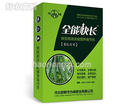 新型高效浓缩营养调节剂-全能快长(黄瓜专用)-为峰肥业