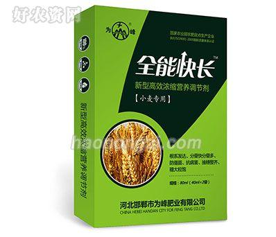 新型高效浓缩营养调节剂-全能快长(小麦专用)-为峰肥业
